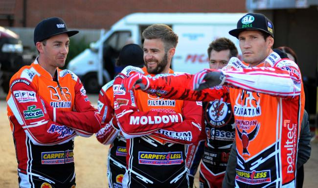 Troy Batchelor, Rasmus Jensen and Jason Doyle all posted double-figure point scores in Swindon Robins' SGB Premiership win at home to Wolverhampton Wolves last Thursday         Picture: DAVE EVANS