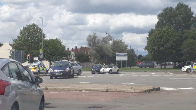 Two-vehicle crash at the Magic Roundabout