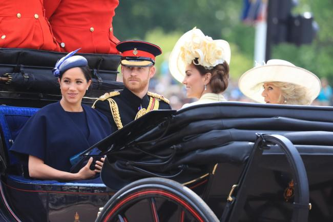 The Duke and Duchess of Sussex with the Duchess of Cambridge and the Duchess of Cornwall