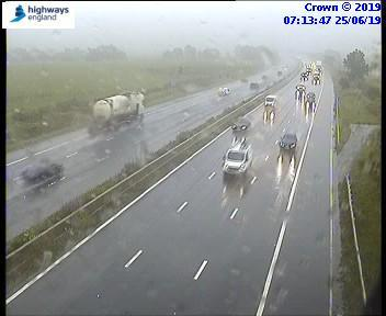 Accident on M4 and heavy rain causing delays
