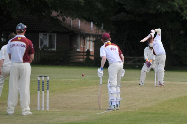 Action from the Division Six fixture between title chasing Wilcot and mid-table Blunsdon. 