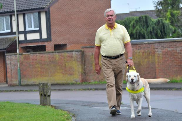 Alan Fletcher, pictured with guide dog Nutmeg, passionately believes that everybody is entitled to live in a safe urban environment