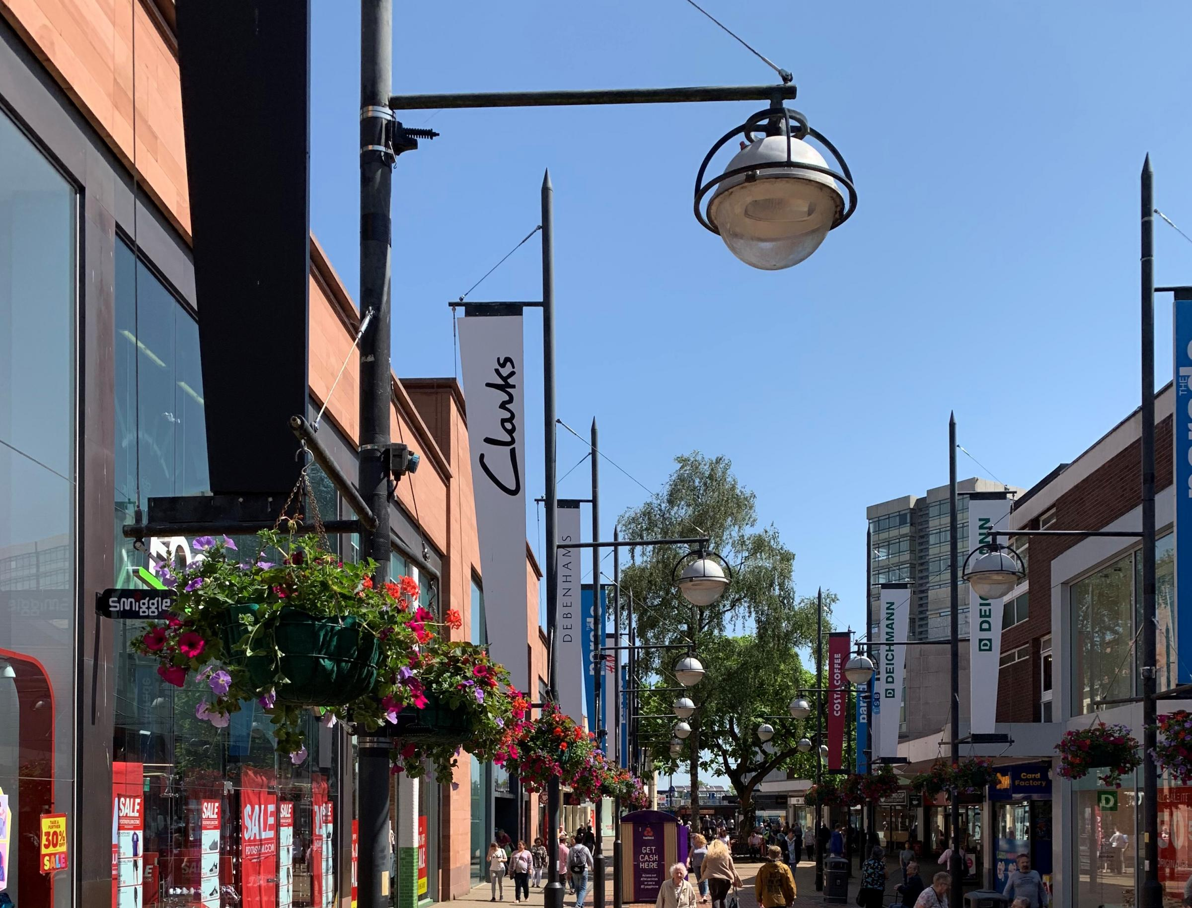 Flower baskets set to return to the town centre
