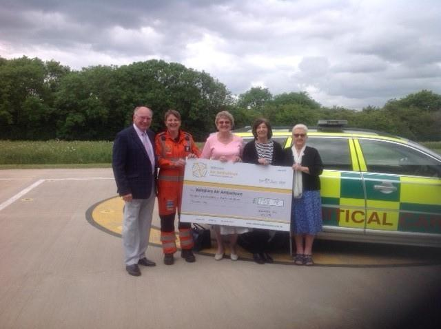 Old friends donate hundreds of pounds to Wiltshire Air Ambulance