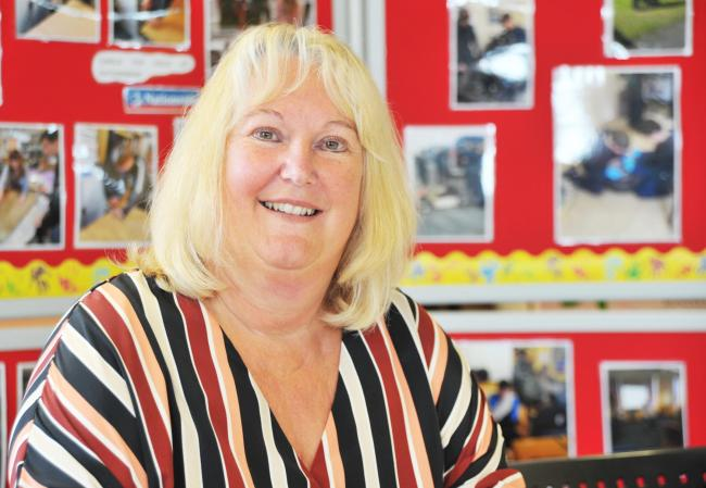 Kim Tupper  - 'Mrs T'  the outgoing headteacher at the Oakfield Project            	 Picture: Dave Cox.