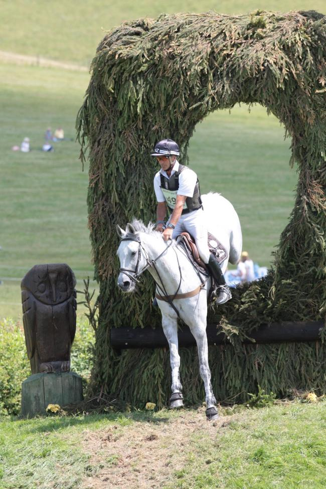 Andrew Nicholson and Swallow Springs in action at the Barbury Horse Trials on Sunday. PICTURE: TIM CRISP