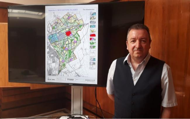 Gary Sumner is in charge of the Local Plan and policies on the expansion of the town