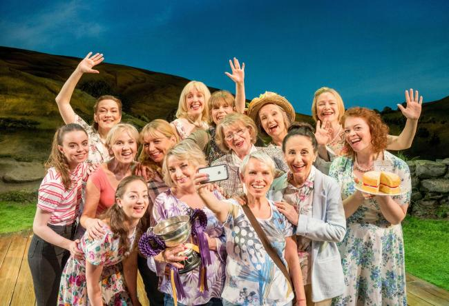 A scene from Calendar Girls at the Bristol Hippodrome