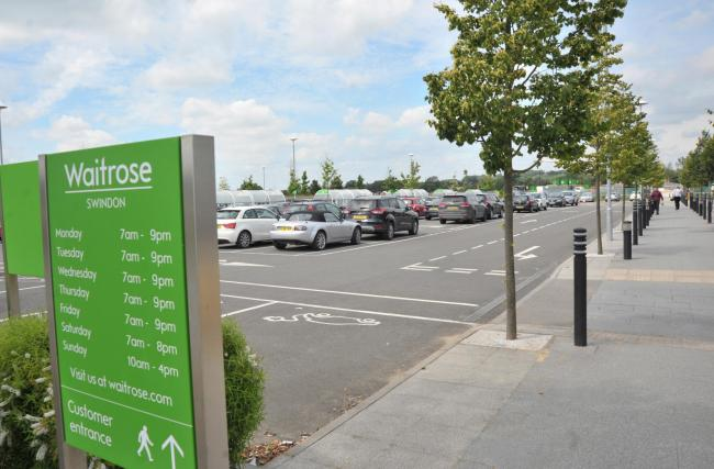 The Waitrose car park, where Ms Saunders was knocked down shortly before Christmas last year Picture: DAVE COX