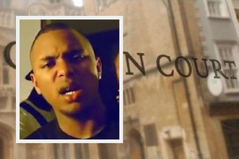 Inset: A still of Nahkell Gordon rapping as J Avalanche in the video to Snowflake Picture: YOUTUBE