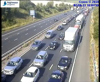 Traffic at a standstill on M4 after THREE crashes