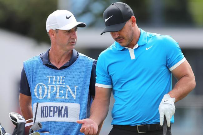 Brooks Koepka is happy for his caddie Ricky Elliott to have the attention this week