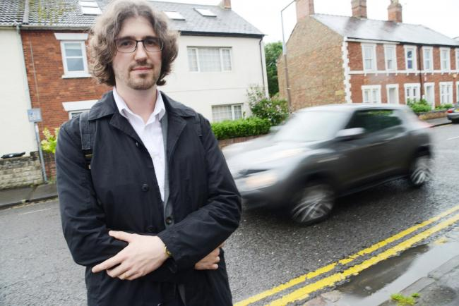 Parish councillor Patrick Herring has spoken out about borough plans to install an 'unofficial' crossing on Eastcott Road 		Picture: THOMAS KELSEY