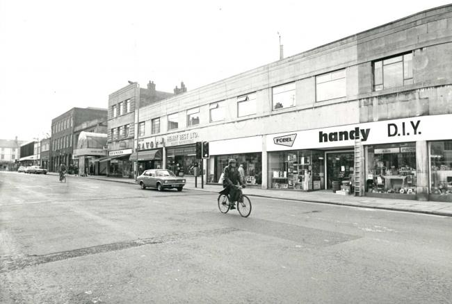 The picture from 37 years ago is instantly recognisable as Victoria Road, but there have been many changes