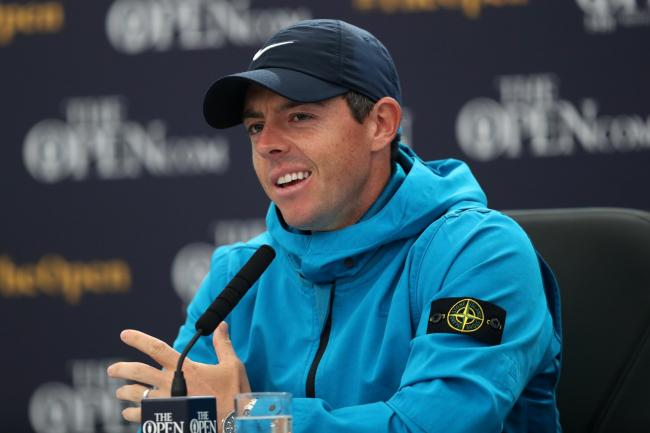 There was standing room only as Rory McIlroy met the press