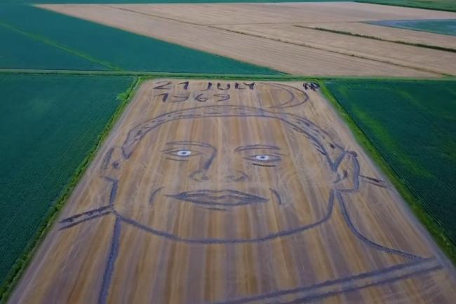 The field artwork in Italy