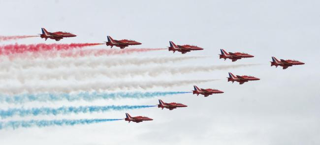 The Red Arrows will perform at all three days of the Air Tattoo
