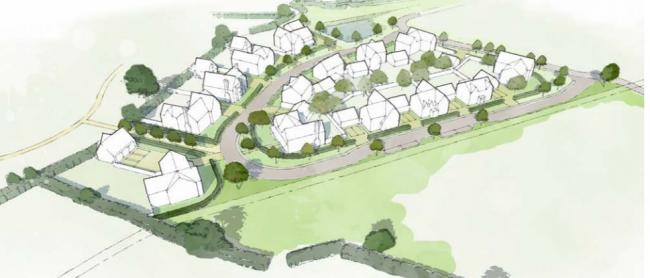 The plot, on the western edge of Tadpole Garden Village where 14 custom dream homes could be built