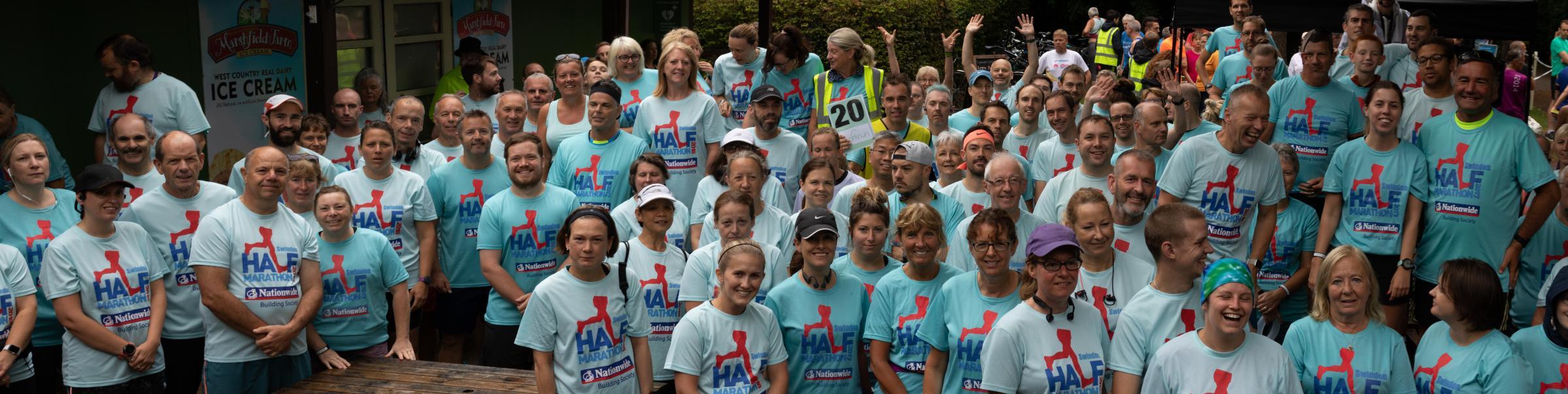 Swindon parkrun's show of support for half marathon