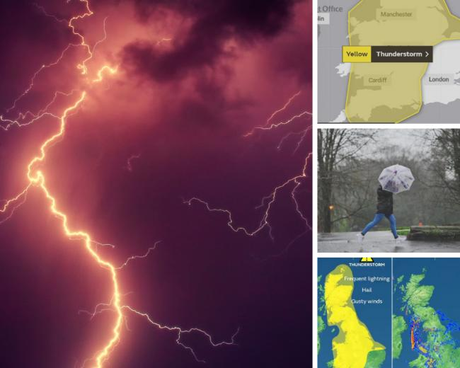 Severe weather warning - thunderstorms are on the way