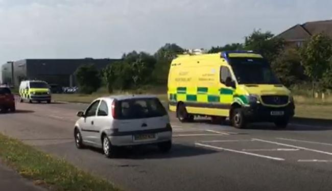 Specialist paramedics called to incident at Land Rover garage in Swindon