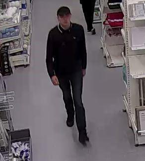 A man police want to speak to in connection with a theft from Wilko Picture: WILTSHIRE POLICE