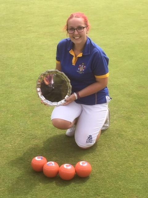 Joanna Hicks won the U25 singles and doubles title at Wiltshire Ladies finals day