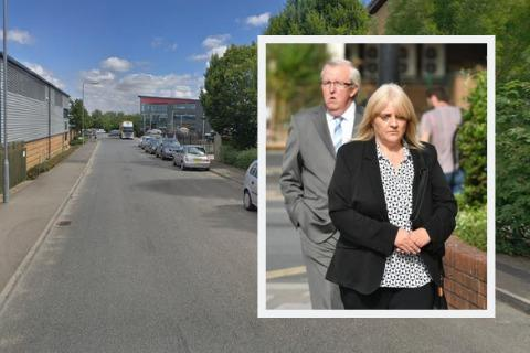 Camera Security Services, Lansdowne Court, Chippenham Picture: GOOGLE (Inset: Sherry Bray, front Picture: PA)