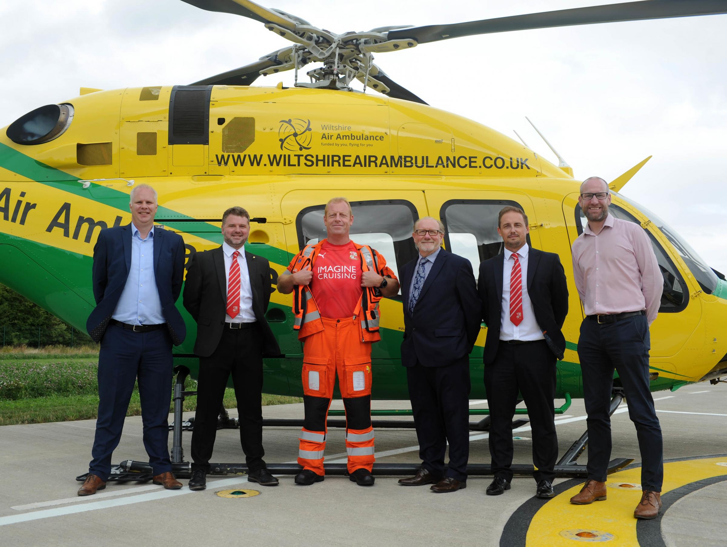 Air Ambulance critical-care trainee receives backing from Swindon Town