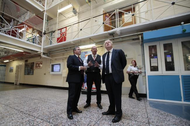 Boris Johnson joined Robert Buckland, South Swindon MP and Justice Secretary, on a visit to HMP Leeds last week Picture: Jon Super/PA Wire