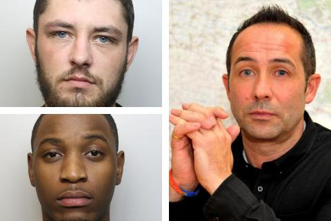 Marcus Mawire (bottom left), Dean Mulholland (top left), Det Insp Mark Wilkinson (right)