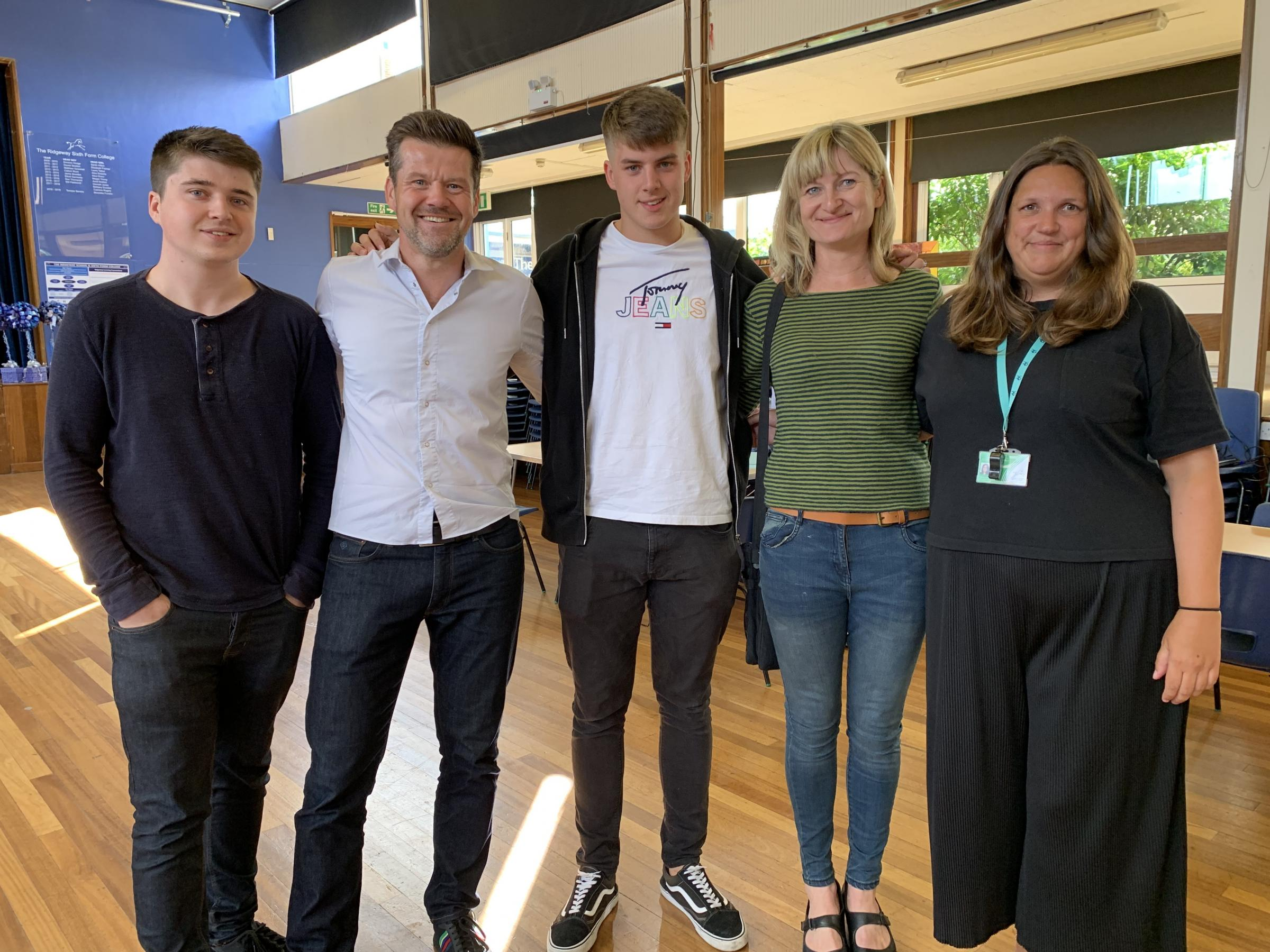 Joe celebrates exam success after struggling with ADHD during sixth form studies