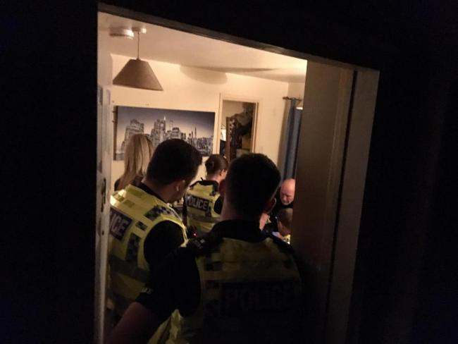 Police carry out warrants
