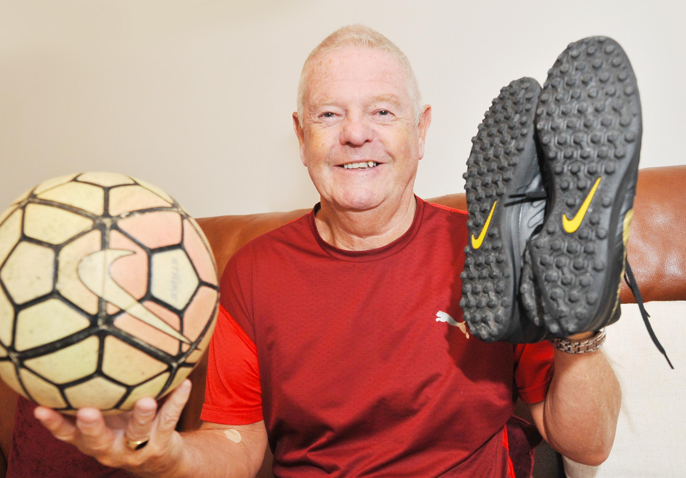 Football fan's still kicking about as he prepares to turn 70