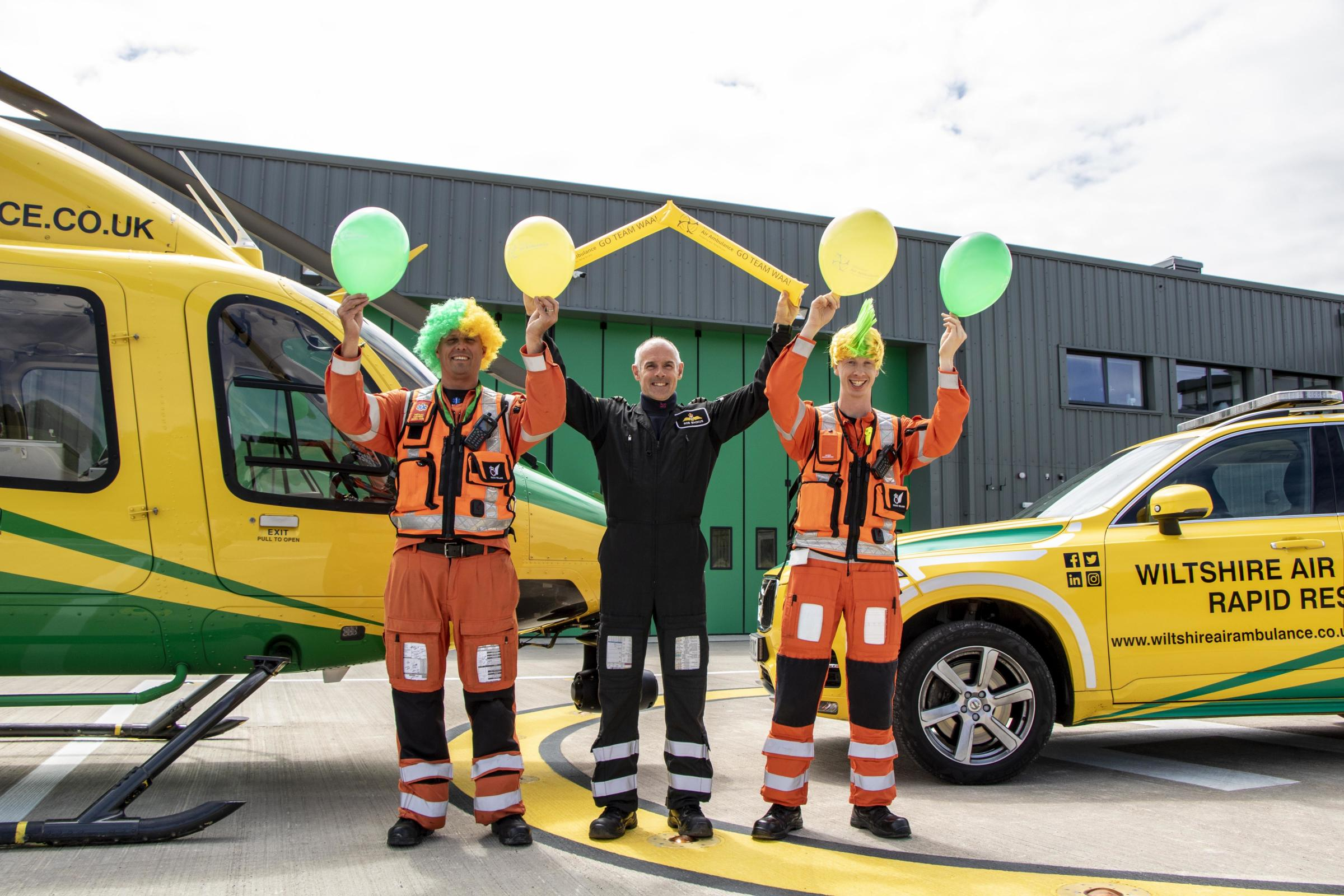 Turn Swindon yellow and green and support Wiltshire Air Ambulance