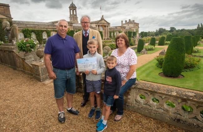 The Ward family, from Devizes, were presented with the lifetime ticket by Lord Lansdowne PHOTO: Clare Green