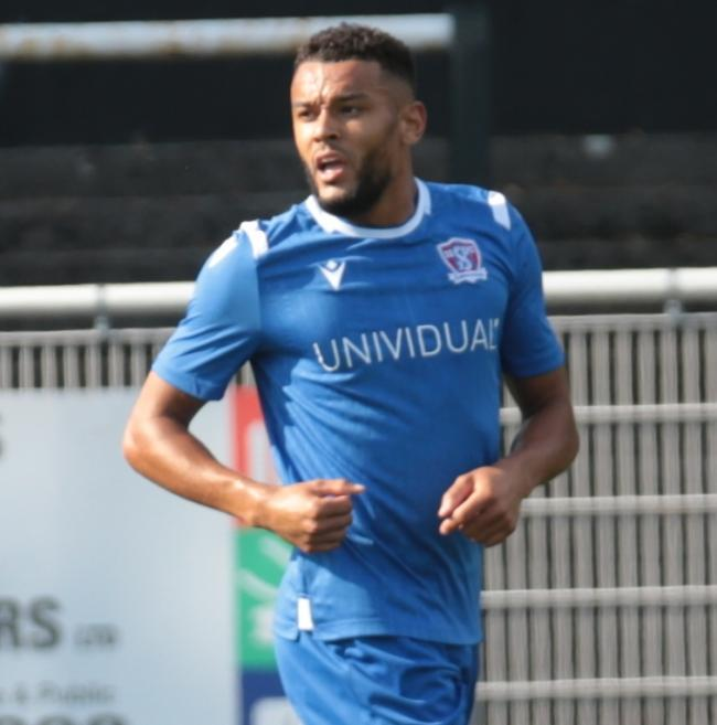 Kane Simpson scored for Swindon Supermarine during their 3-1 defeat at Merthyr Town in Southern League Premier Division South		 	     Picture: JEFF YOUD
