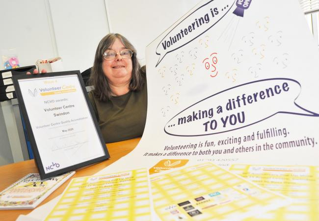 Volunteer Centre Swindon, led by Sue Dunmore, has supplied volunteers ranging from charity trustees and school governors to an emergency interpreter