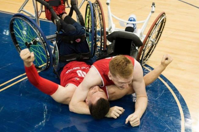 Ben Fox in action for the Great Britain team. PICTURE: BRITISH WHEELCHAIR BASKETBALL