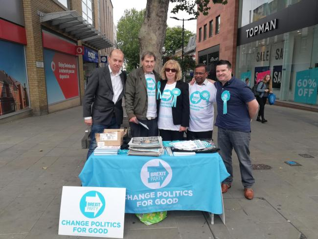 Justin Stares sets up a stall for Brexit Party