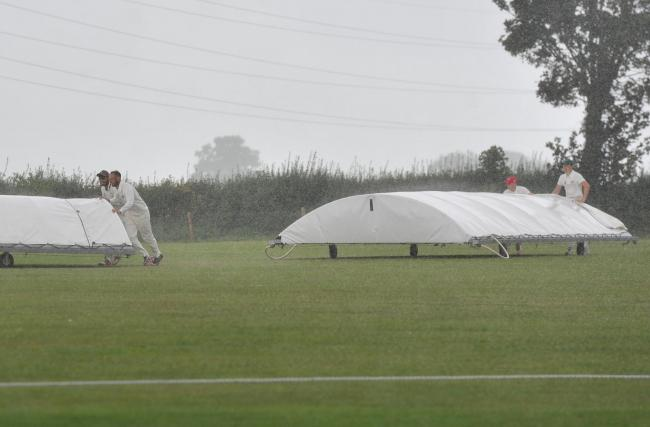 Purton's home tie against Calne was temporarily stopped due to an unforeseen shower, before the hosts went on to win by seven wickets.  			           PICTURE: Dave Cox