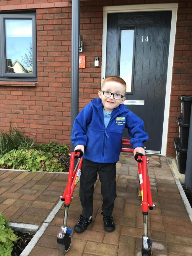 Jacob's first day in Year 1