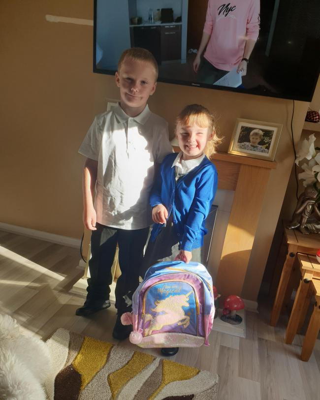 My son haydon first day in year 2 and my daughter millie first day in reception