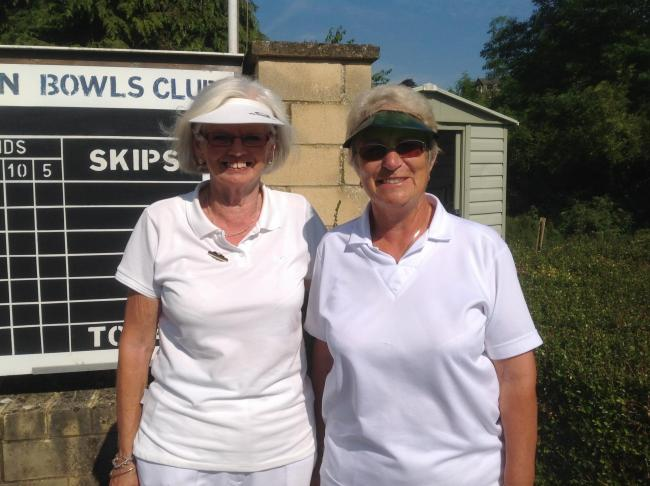 Stratton Churchway duo Jackie Pearce (left) and Janet Willis compete in the ladies' pairs final at county finals day