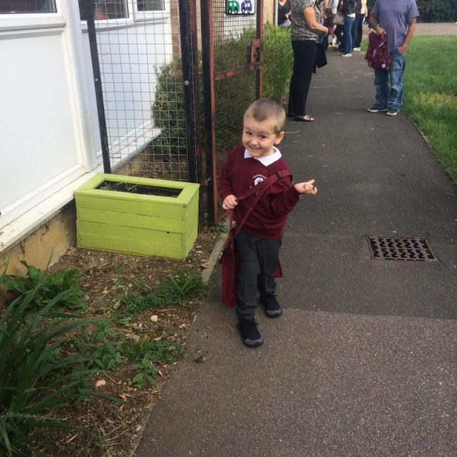 Jae-Jay's first day in Reception