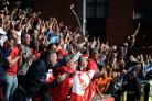 Leyton Orient v STFC        Pic Dave Evans       7/9/2019.Delirious Town fans worship their idols.