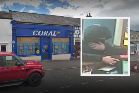 Chippenham branch of Coral Racing targeted by armed robber