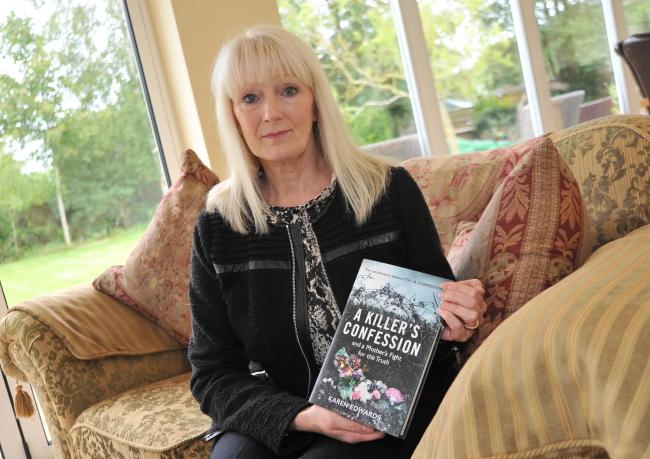 Karen Edwards wrote new book A Killer's Confession from extensive diary notes she kept throughout her fight for justice 					Picture: DAVE COX
