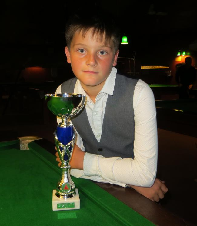 Jaydon Elliott with his runners-up trophy