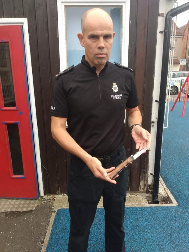 Swindon Advertiser: Swindon Sgt David Tippetts is playing a key role in this year's knife amnesty